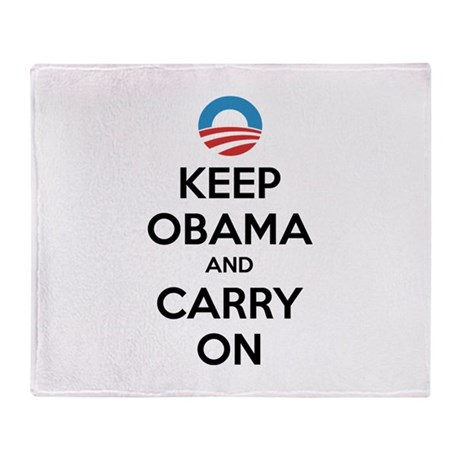 Keep obama and carry on Throw Blanket