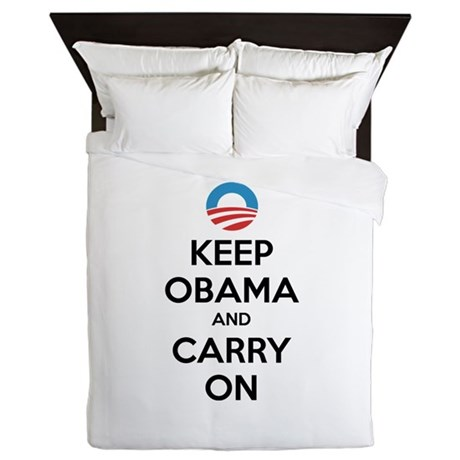 Keep obama and carry on Queen Duvet