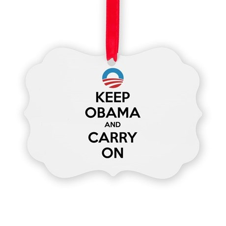 Keep obama and carry on Picture Ornament