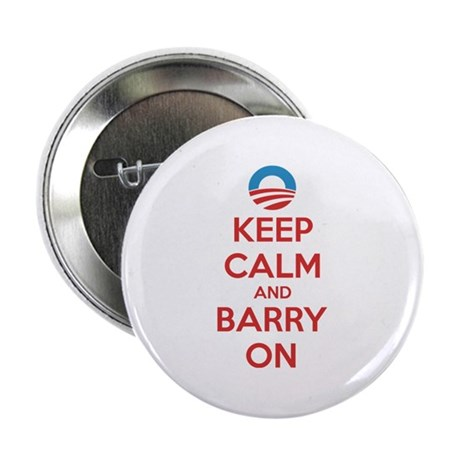 """Keep calm and barry on 2.25"""" Button"""