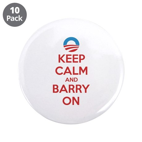 """Keep calm and barry on 3.5"""" Button (10 pack)"""
