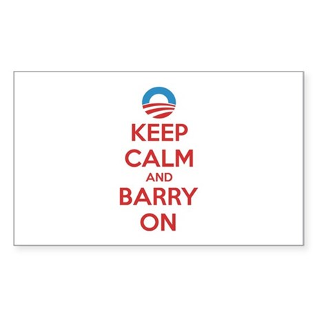 Keep calm and barry on Sticker (Rectangle)