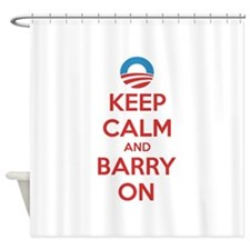 Keep calm and barry on Shower Curtain