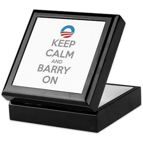 Keep calm and barry on Keepsake Box