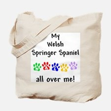 Welsh Springer Spaniel Walks Tote Bag