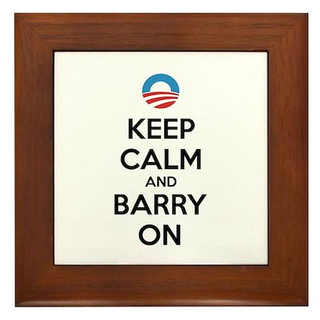 Keep calm and barry on Framed Tile