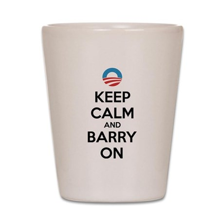 Keep calm and barry on Shot Glass
