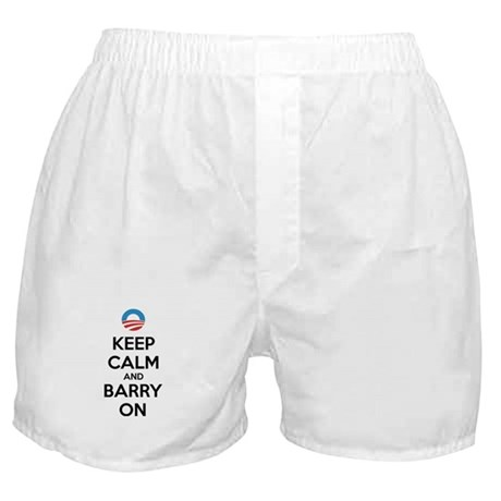 Keep calm and barry on Boxer Shorts