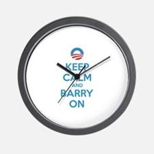 Keep calm and barry on Wall Clock