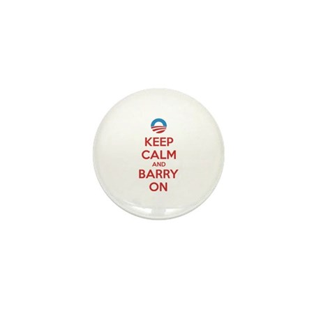 Keep calm and barry on Mini Button (10 pack)