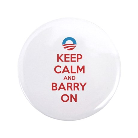 """Keep calm and barry on 3.5"""" Button (100 pack)"""