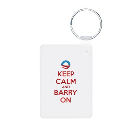 Keep calm and barry on Aluminum Photo Keychain