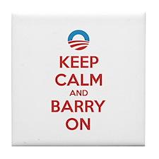 Keep calm and barry on Tile Coaster
