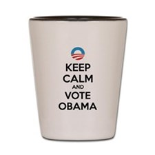 Keep calm and vote obama Shot Glass