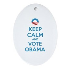 Keep calm and vote obama Ornament (Oval)