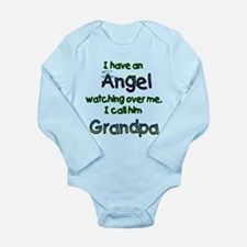 I HAVE AN ANGEL GRANDPA.png Long Sleeve Infant Bod
