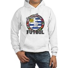 Uruguay Flag World Cup Futbol Ball with World Flag