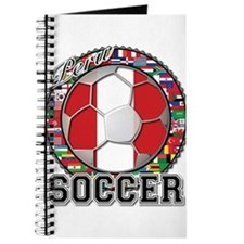 Peru Flag World Cup Soccer Ball with World Flags J