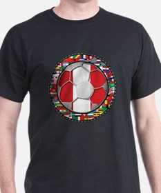 Peru Flag World Cup Futbol Soccer Football Ball wi