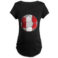 Peru Flag World Cup Futbol Soccer Football Ball Ma