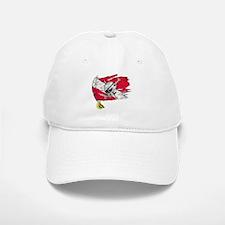Red Dive Flag Skull Baseball Baseball Cap