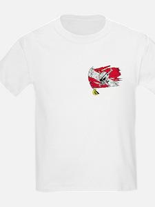 Red Dive Flag Skull Kids T-Shirt