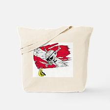 Red Dive Flag Skull Tote Bag