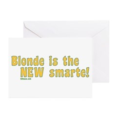 Blonde is the New Smarte Greeting Cards (Package o