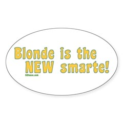Blonde is the New Smarte Oval Decal
