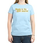 Blonde is the New Smarte Women's Pink T-Shirt