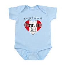Everyone Loves Peruvian Girl Infant Bodysuit
