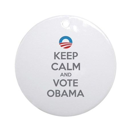 Keep calm and vote obama Ornament (Round)