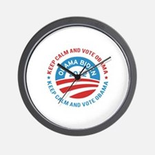 Keep calm and vote obama Wall Clock