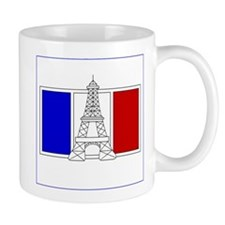 Eiffel Tower Drawing W/ French Flag Mug