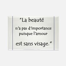 L'amour Sans Visage Rectangle Magnet
