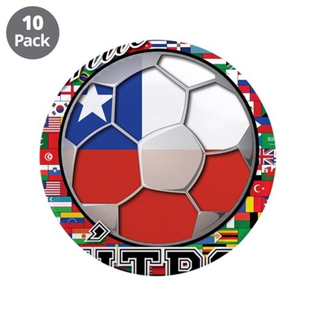 Chile Flag World Cup Futbol Ball with World Flags