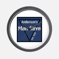 Personalized Man Cave Wall Clock