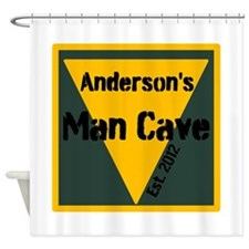 Personalized Man Cave Shower Curtain