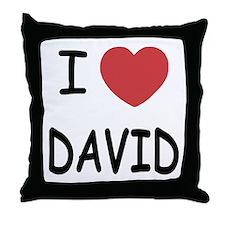 i heart david Throw Pillow