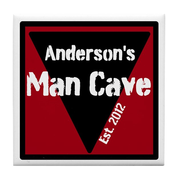 Man Cave Coasters : Personalized man cave tile coaster by personalizedgifts