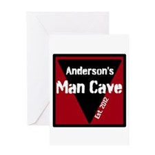 Personalized Man Cave Greeting Card