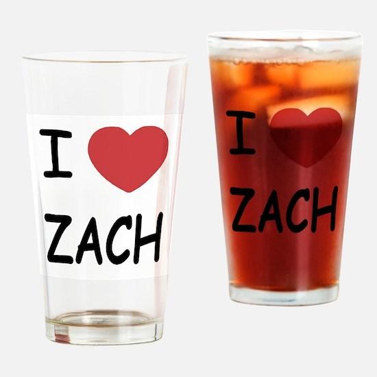 i heart zach Drinking Glass