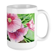 Pink Hollyhocks Mug