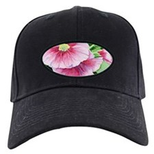Pink Hollyhocks Baseball Cap