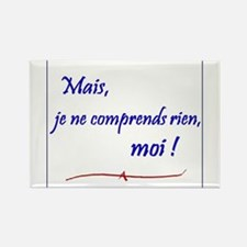 Je ne comprends rien... Rectangle Magnet