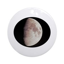 Moon Terminator Line Ornament (Round)