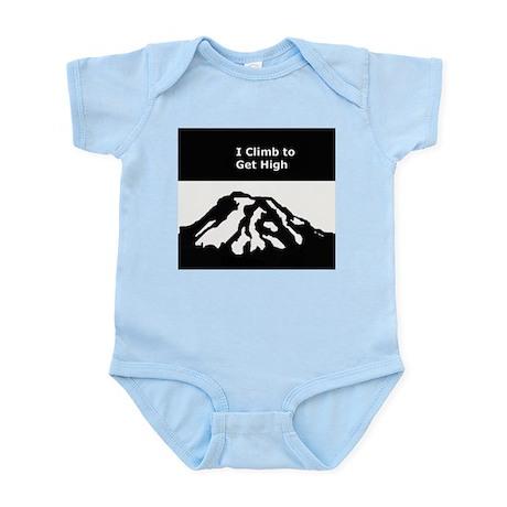 Mt. Rainier - I Climb to get High Infant Bodysuit