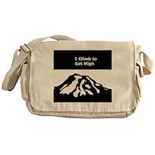 Mt. Rainier - I Climb to get High Messenger Bag