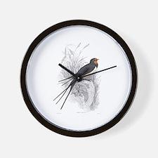 Chimney Swallow Bird Wall Clock