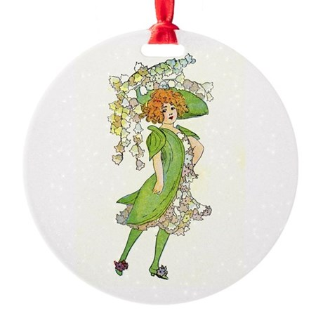 Flower Fairy Round Ornament